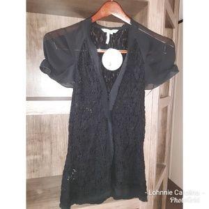 BCBGeneration Black Lace Blouse